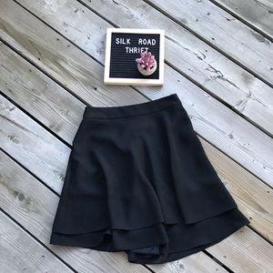 KATE SPADE ♠️ black swing skirt! Size 0. NWOT